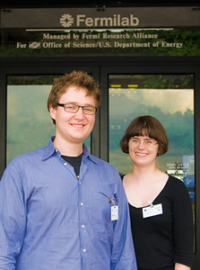 Nick and Lizzie at Fermilab.
