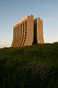 The Robert-Wilson-designed high rise at Fermilab.