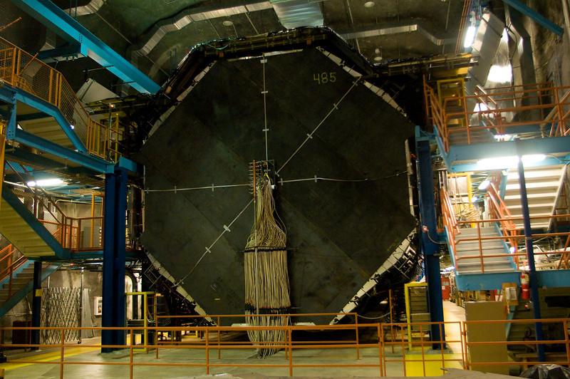 The MINOS far detector in the Soudan Mine in northern Minnesota.