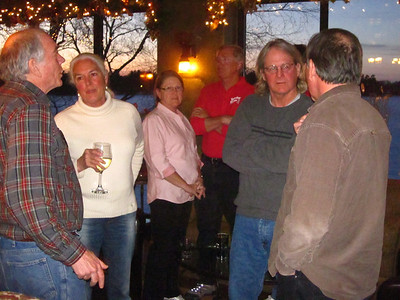 Attendees visiting during the break at Science on Tap