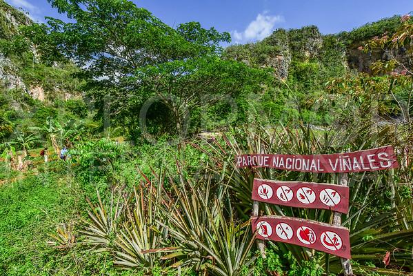 Entering Parque Nacional Viñales
