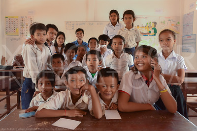 Children in their Classroom at Run Ta Ek Eco-Village in Cambodia