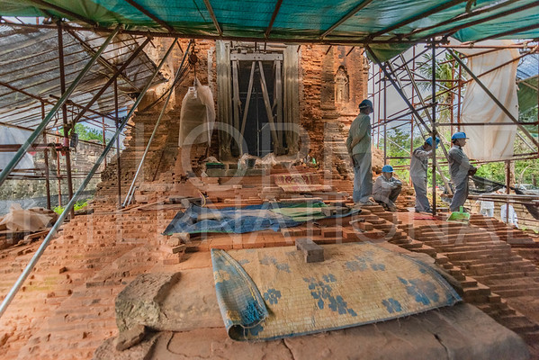Brick Conservation at Bakong Temple