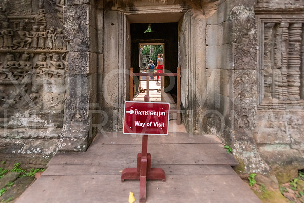 Visitor Flow at Ta Prohm Temple