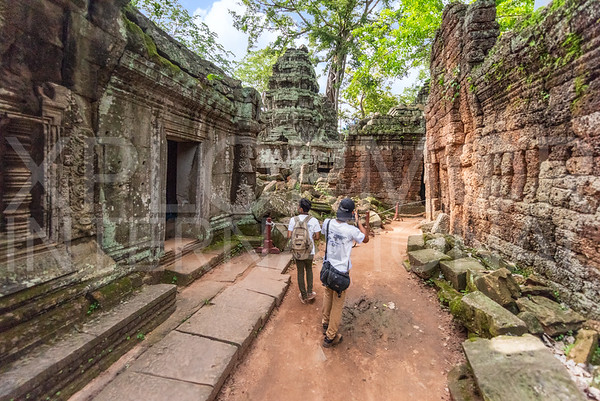 WH Volunteers at Ta Prohm