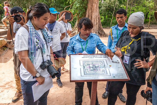 WH Volunteers at Ta Prohm