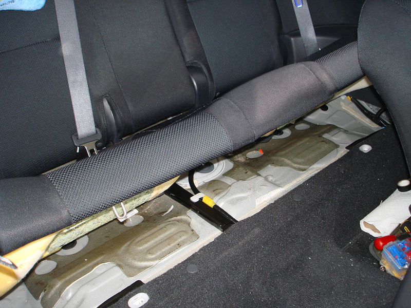 Removing rear seat