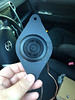 """Aftermarket tweeter mounted to tweeter adapter    from  <a href=""""http://www.car-speaker-adapters.com/items.php?id=SAK012""""> Car-Speaker-Adapters.com</a>"""