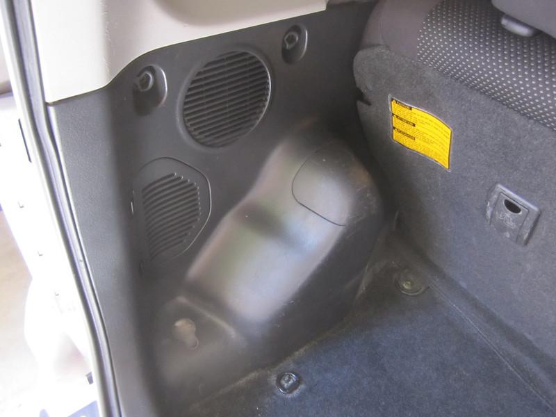 Rear hatch before speaker installation