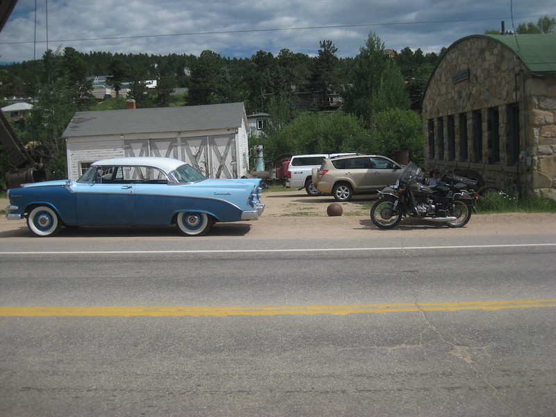 that is a Ural and side car... Car show in Nederland - beginning of Berthoud - Rocky Mountain Nat'l Park ride