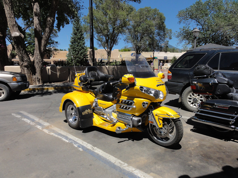 yellow bike; Riding Taos 2011
