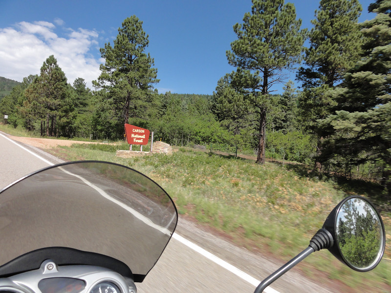 RT 518 to Holman,back, to 75w, 68N ; Riding Taos 2011