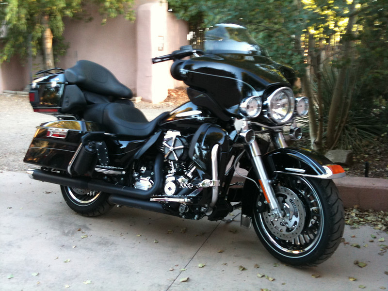 another bike staying at Taos Inn; Riding Taos 2011