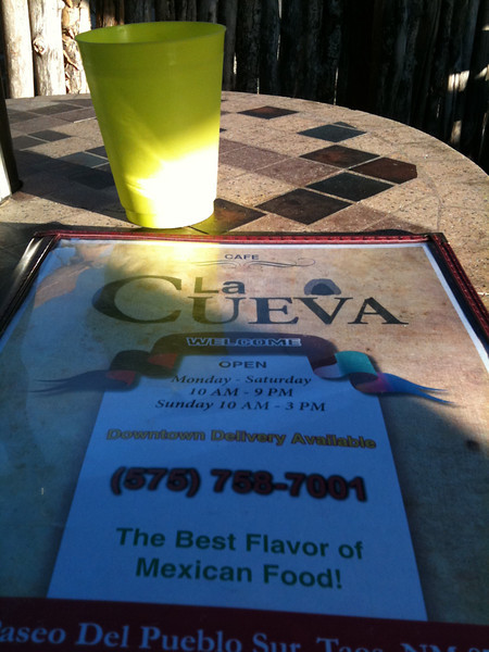 Dinner at La Cueva; Riding Taos 2011
