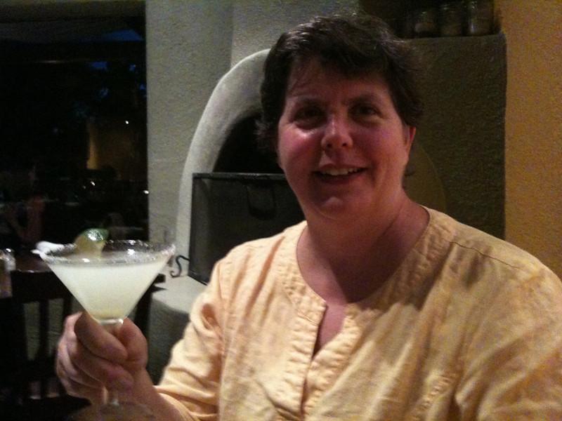Silver Coin Margitas at the Gorge restaurant, Taos; Riding Taos 2011