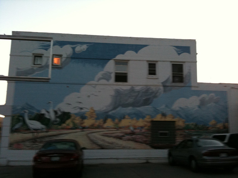 mural in Alamosa, Riding Taos 2011