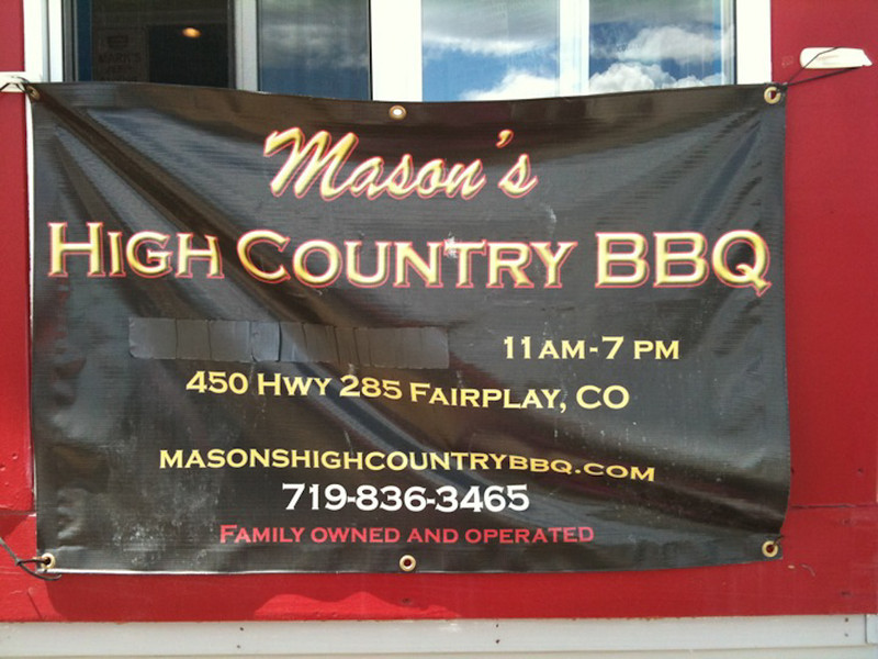 Mason's High Country BBQ, Riding Taos 2011