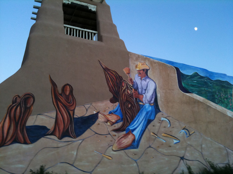 mural; Riding Taos 2011