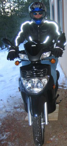 I'm ready to roll! Do they make snow chains for my scooter?