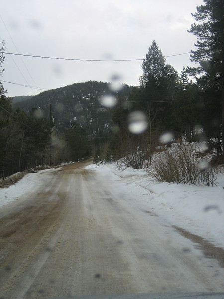 Road conditions for Ariel's first voyage. But then I saw this downhill section and turned around.