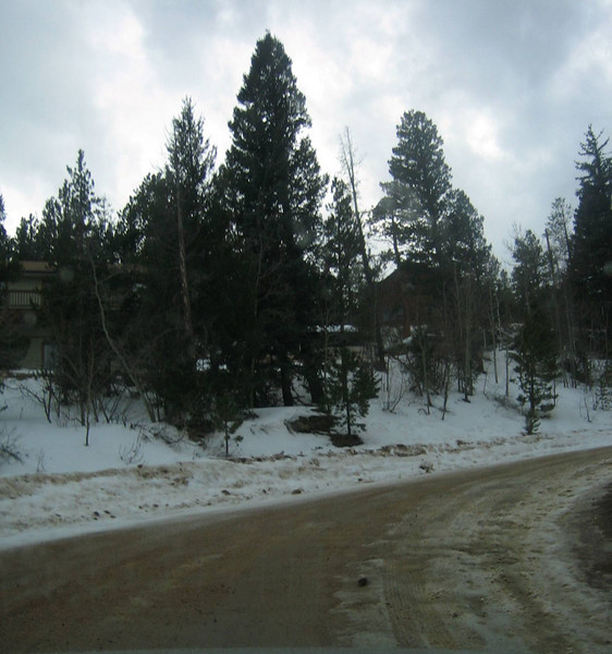 Road conditions for Ariel's first voyage. I turned around because I knew I'd have to ride up through the switchback.
