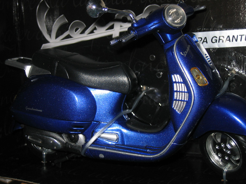 A mini-Vespa was found at the local auto parts shop in the Japantown mall. Grandtourismo!