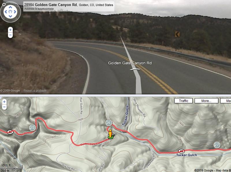 2009-06-07: Nederland - Golden Gate Park - Coal Creek Canyon route