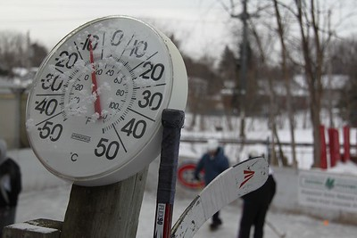 The thermometer was being a little generous as it was -13º