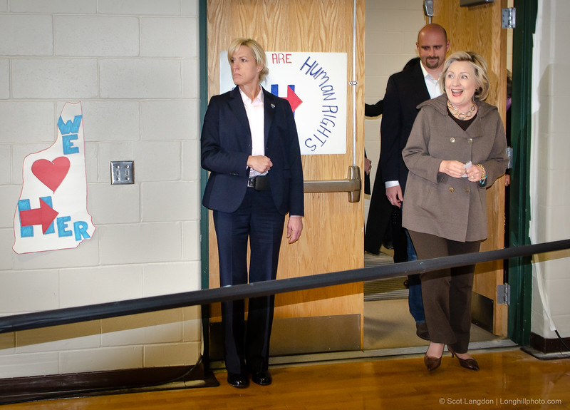 9.  Clinton Holds Town Hall Meeting At Derry Middle School