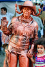Saw this copper cowgirl posing for pics with little ones at Buskerfest in Toronto on 24 August, 2012.