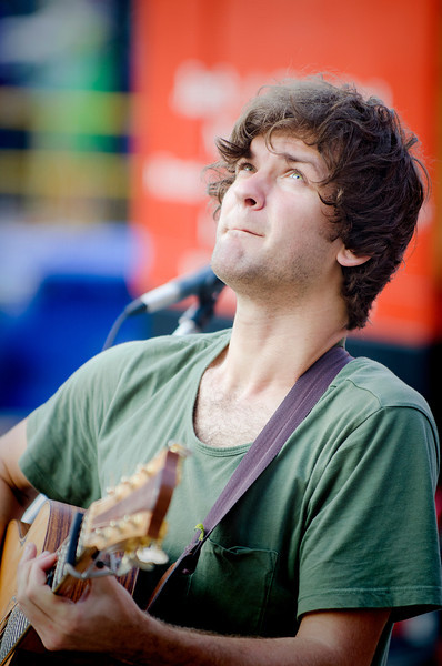 This is Daniel Champagne, a very talented guitarist and musician, at Buskerfest in Toronto on August 23rd.