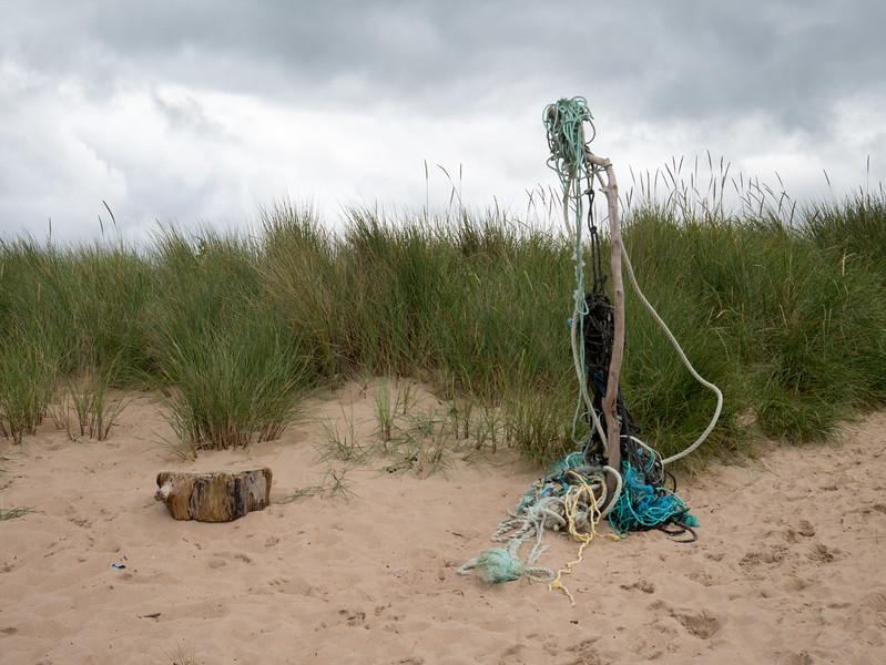 Strange sculpture on Brora beach.