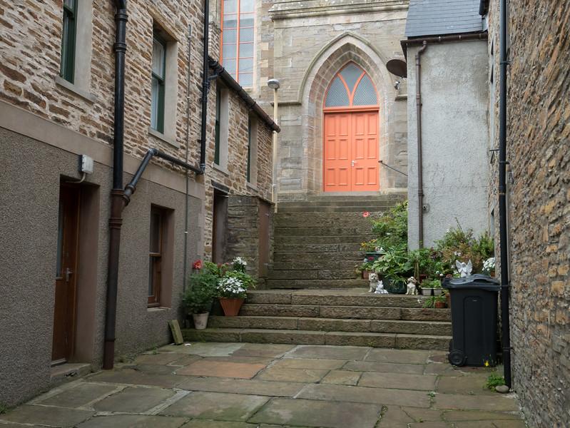 A backstreet in Kirkwall, Orkney