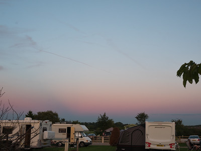 Sunset in campsite