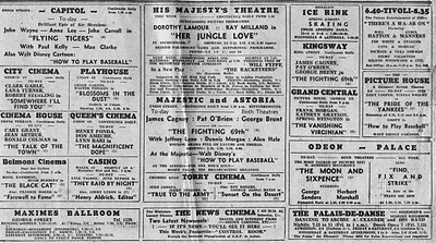 Aberdeen Newspaper Cinema Advert circa 1942