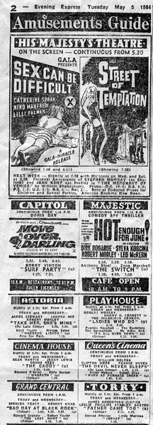Aberdeen Cinema Guide - Evening Express 1964