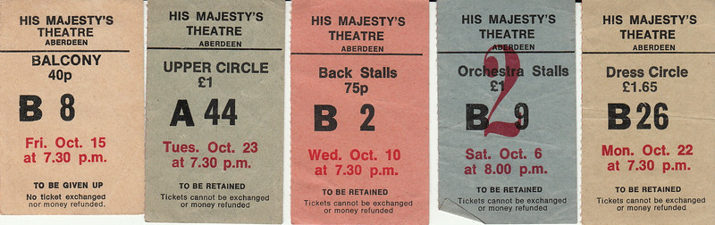 His Majesty's Theatre Ticket Stub