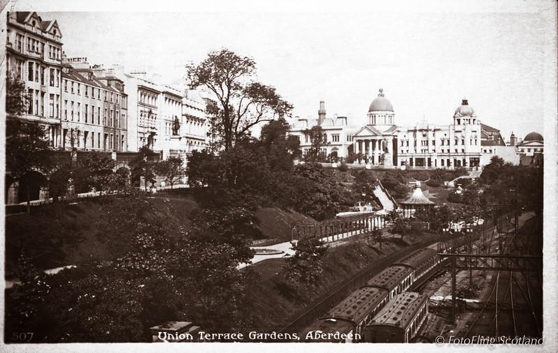 Postcard Union Terrace Gardens, Aberdeen - (sent 20/5/46)