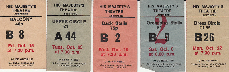 """His Majesty's Theatre Ticket Stub"""