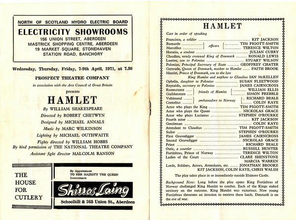His Majesty's Theatre Programming April 1971