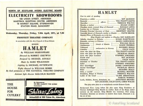 His Majesty's Theatre Programming April 1971