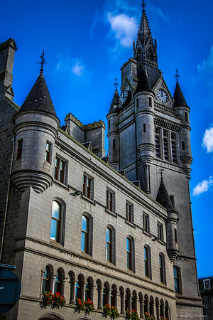 The West Tower of the new Town House, 1868-73, Aberdeen