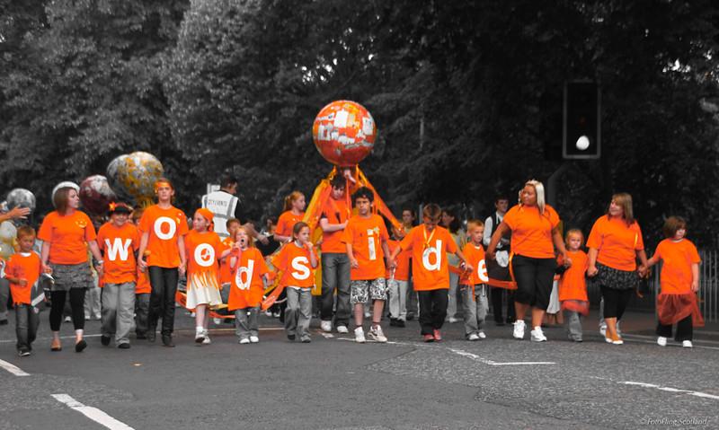 Orange Aberdeen Tartan Day 2010