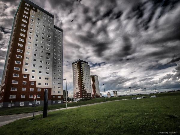 Tower Blocks off School Road, Aberdeen
