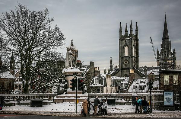 Winter in Union Street, Aberdeen