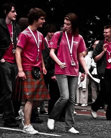 Kiltie gets attention Aberdeen Tartan Day 2010