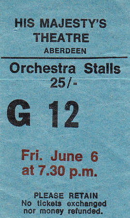 HMT Ticket Stub 1969