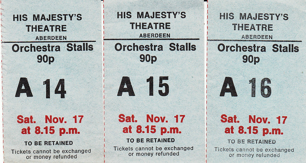 HMT Ticket Stub 1973