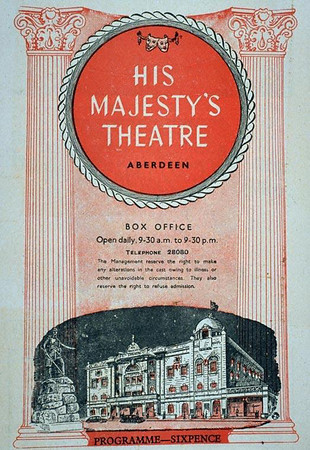 Programme - His Majesty's Theatre, Aberdeen