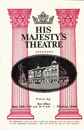 HMT Programme Cover 1971